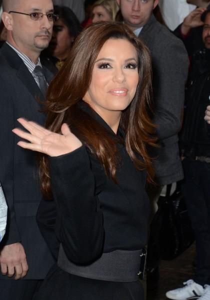 Eva Longoria le 12 février 2013 à New York