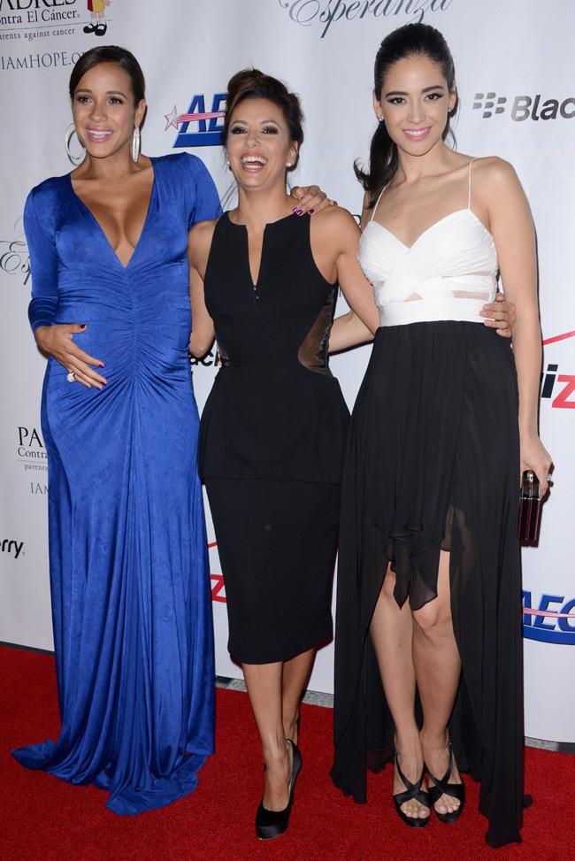 Dania Ramirez, Eva Longoria et Edy Ganem à la soirée Padres Contra el cancerr organisée à Los Angeles le 24 septembre 2013