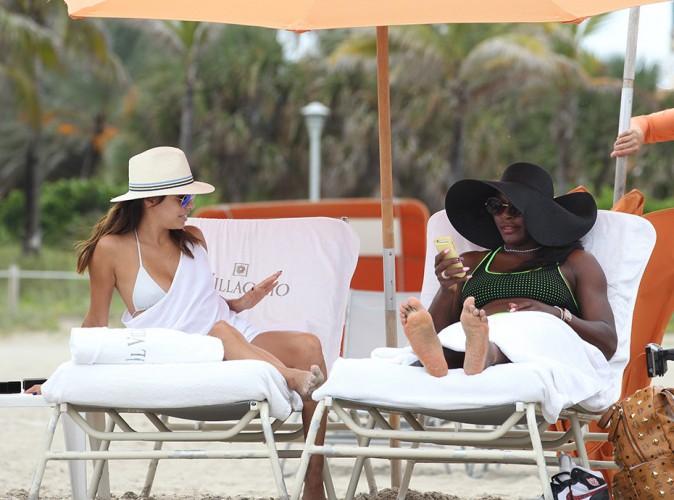 Eva Longoria et Serena Williams à Miami le 13 septembre 2014