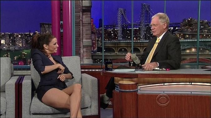 Eva Longoria sur le plateau de David Letterman
