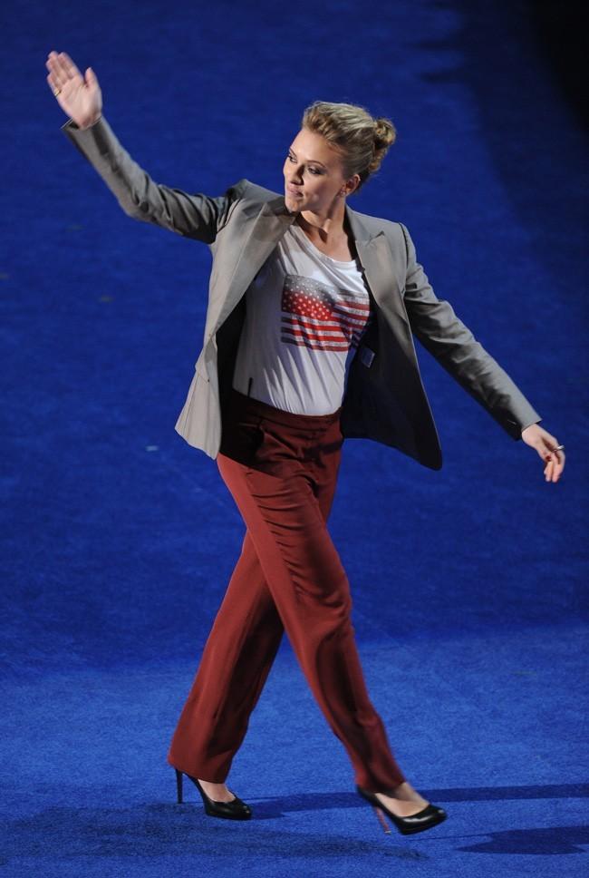 Scarlett Johansson à la Convention Nationale démocrate le 6 septembre 2012 à Charlotte