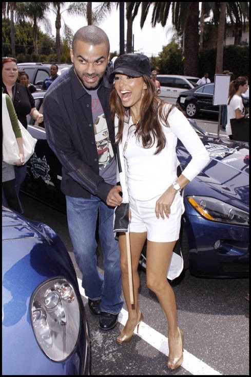 "Eva Longoria et Tony Parker lors du ""Rally For Kids With Cancer"" à Hollywood, le 2 mai 2009."