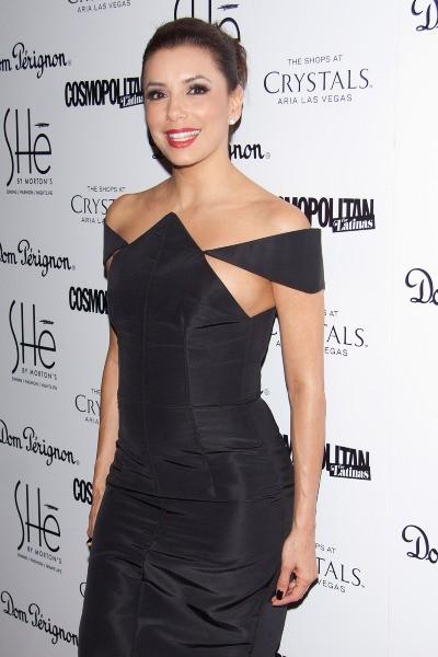 """Eva Longoria lors de l'inauguration du restaurant """"SHe by Morton's"""" à Las Vegas, le 2 février 2013."""