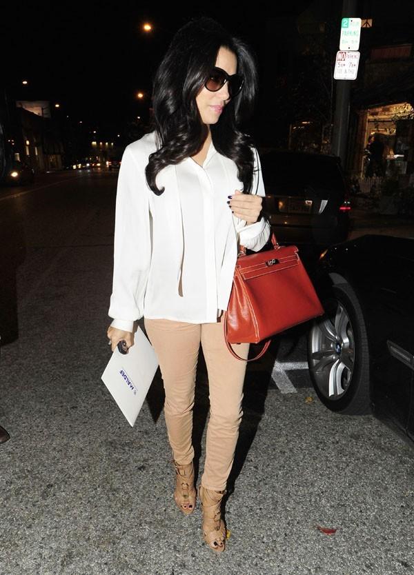 Eva Longoria à West Hollywood le 8 janvier 2013