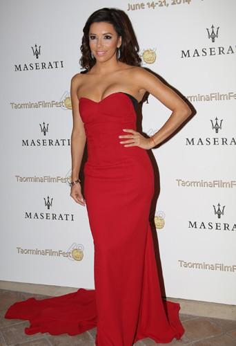 Eva Longoria à Taormine le 17 juin 2014