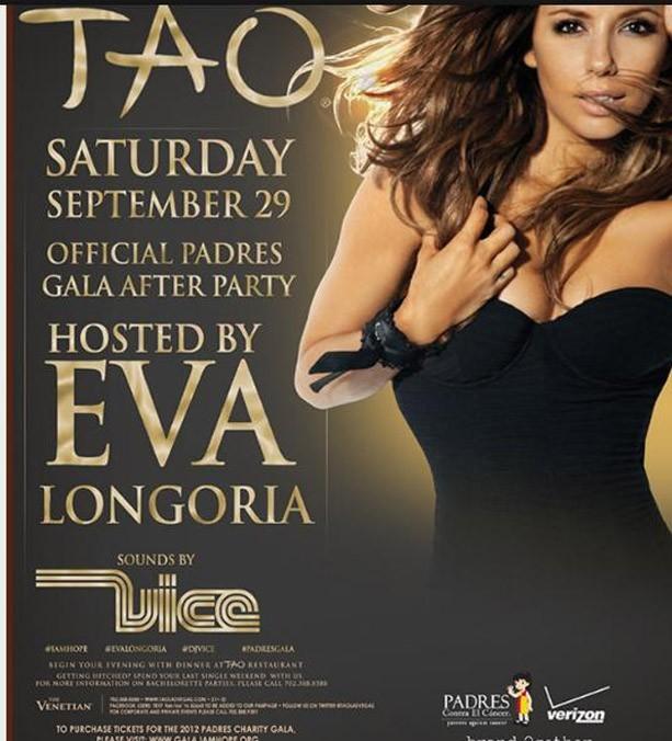 Eva Longoria pour une soirée spéciale à Las Vegas le 29 septembre 2012