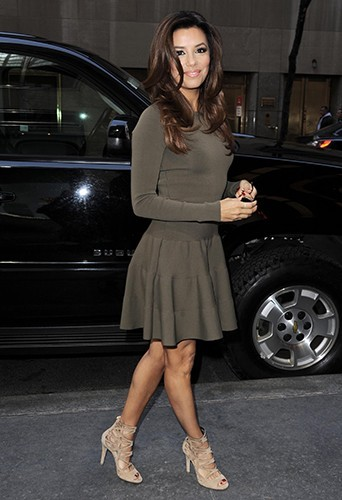 Eva Longoria à New-York le 17 avril 2013