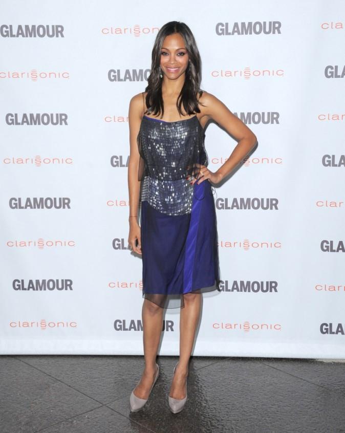 Zoe Saldana lors de la soirée Glamour Reel Moments à Hollywood, le 24 octobre 2011.