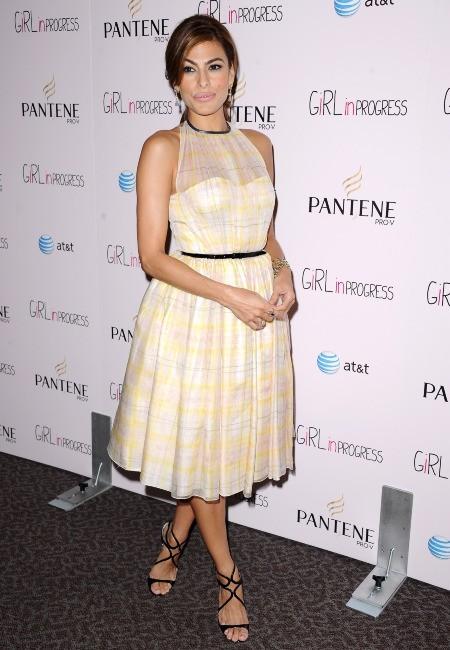 """Eva Mendes lors de la première du film """"Girl in Progress"""" à Los Angeles, le 2 mai 2012."""