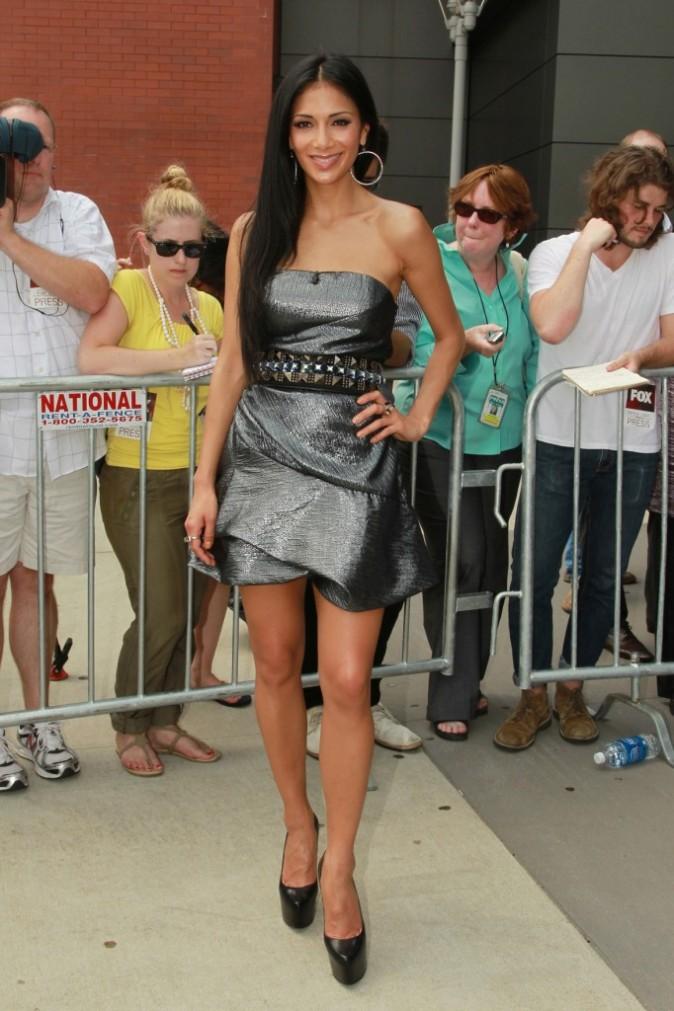 Nicole Scherzinger lors des auditions du X-Factor US dans le New Jersey, le 9 juin 2011.
