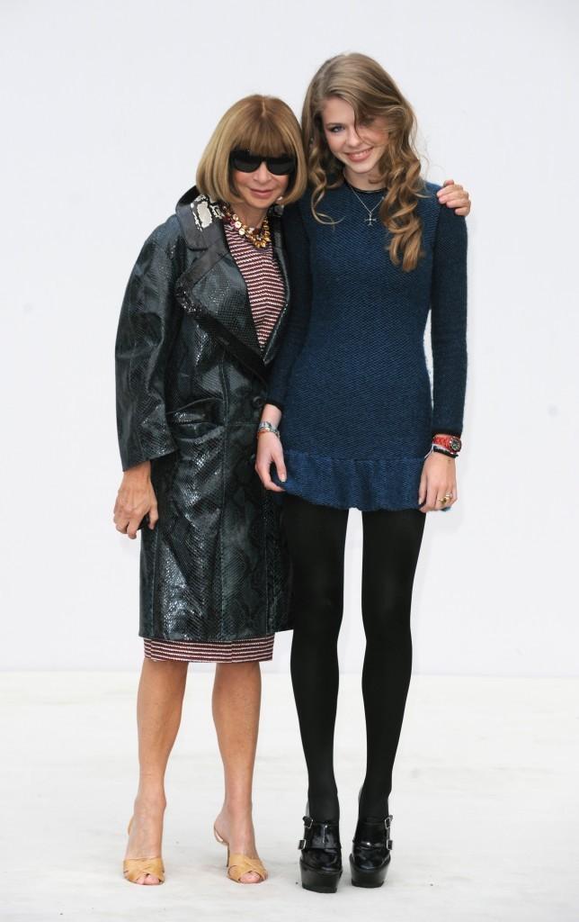 Anna Wintour et sa nièce Ellie lors du défilé Burberry à Londres, le 19 septembre 2011.