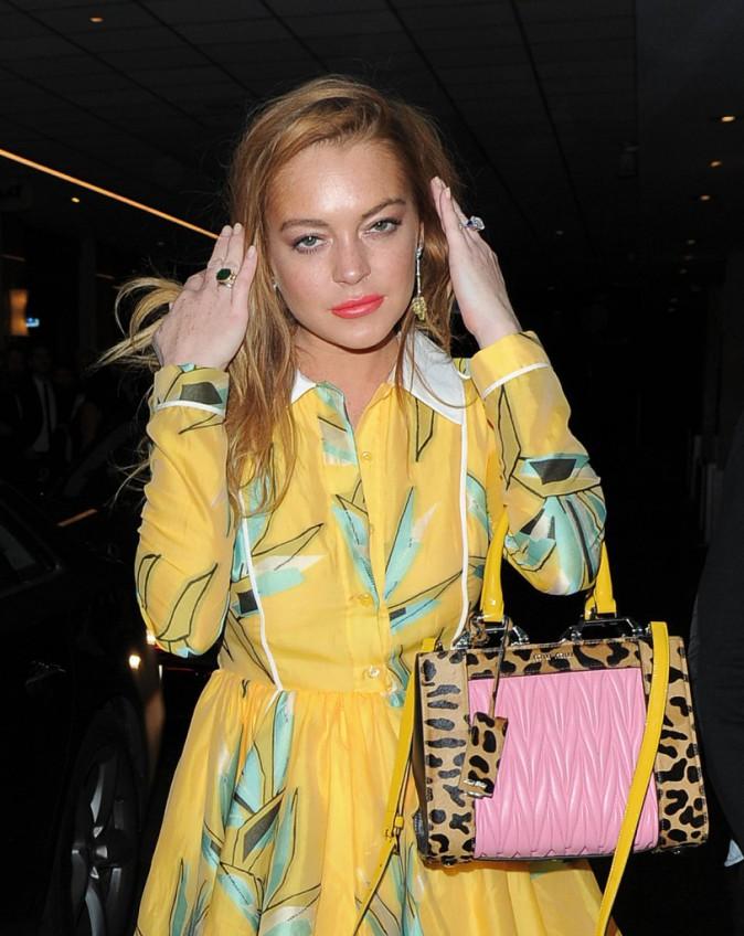 Lindsay Lohan à Londres le 22 septembre 2015