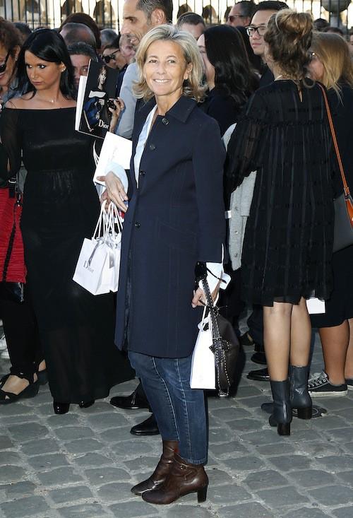 Claire Chazal au défilé printemps-été 2016 Dior, le 2 octobre 2015 à Paris !