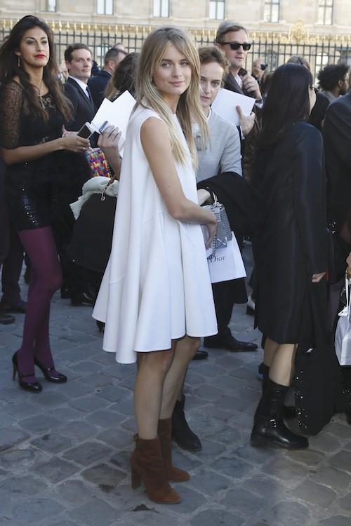 Cressida Bonas au défilé printemps-été 2016 Dior, le 2 octobre 2015 à Paris !