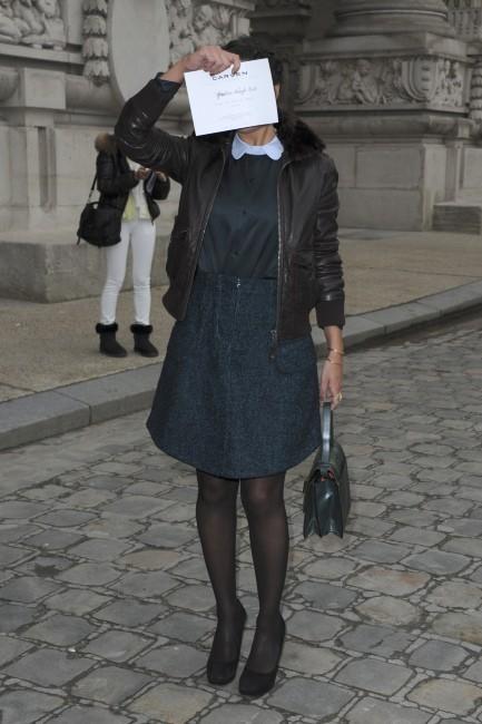 Géraldine Nakache lors du défilé Carven à Paris, le 28 février 2013.