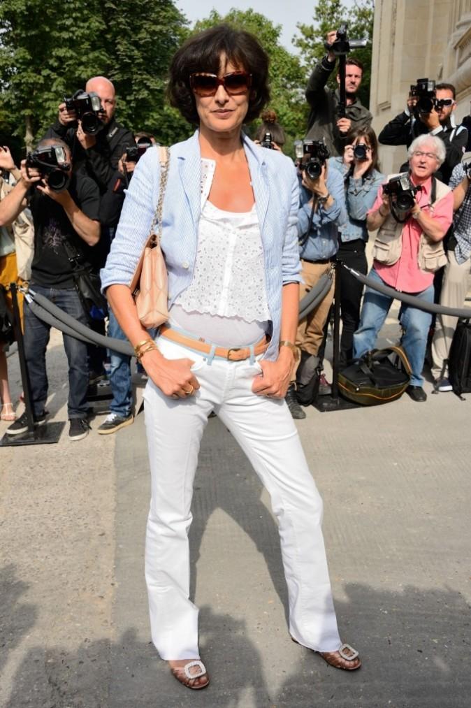 Inès de la Fressange lors du défilé Chanel à Paris, le 2 juillet 2013.