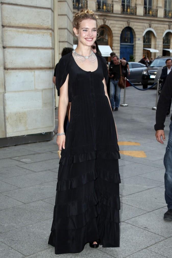 Natalia Vodianova à la place Vendôme, le 3 juillet 2012.