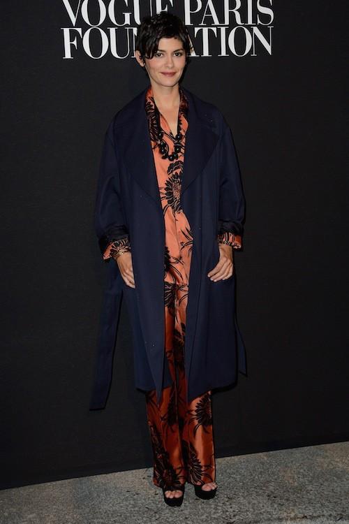 Audrey Tautou au gala Vogue Foundation le 9 juillet 2014