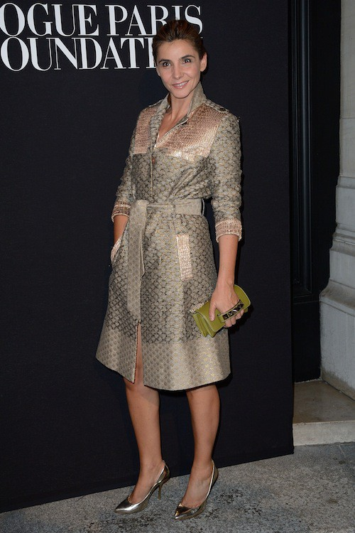 Clotilde Courau au gala Vogue Foundation le 9 juillet 2014
