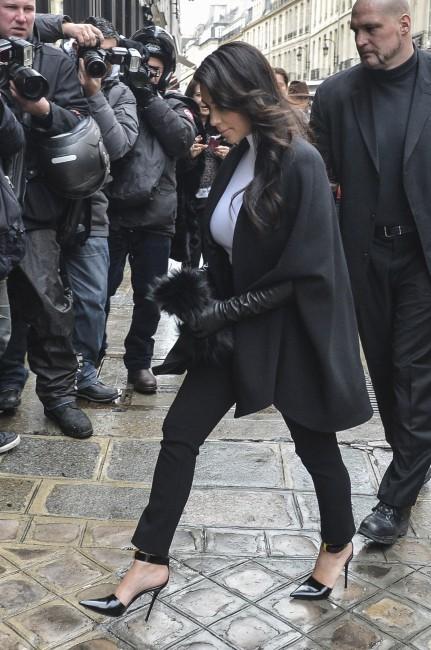 Kim Kardashian arrivant à l'hôtel Costes à Paris, le 22 janvier 2013.