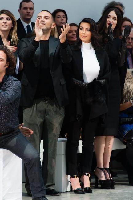 Kim Kardashian lors du défilé Stéphane Rolland à Paris, le 22 janvier 2013.
