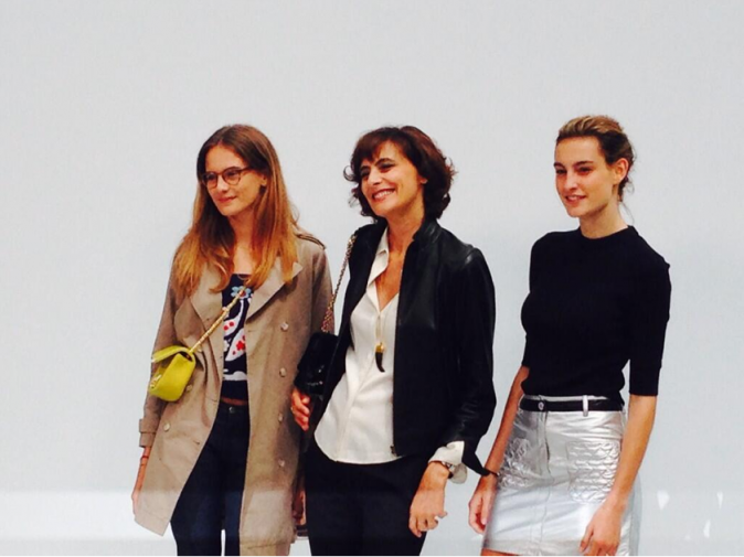 Ines de La Fressange au défilé Chanel à Paris, le 8 juillet 2014