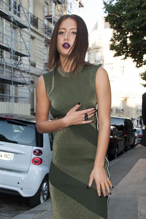 Adèle Exarchopoulos lors de la soirée Vogue à Paris, le 6 juillet 2015