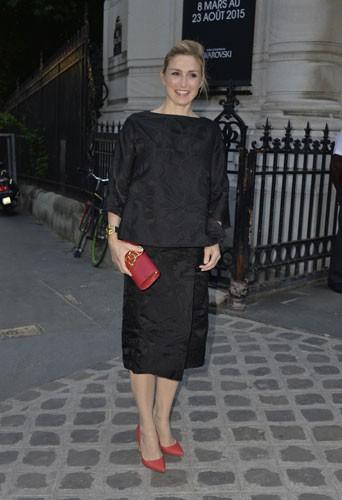 Julie Gayet lors de la soirée Vogue à Paris, le 6 juillet 2015