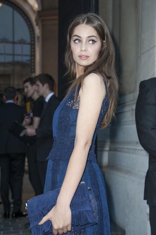 Marie-Ange Casta lors de la soirée Vogue à Paris, le 6 juillet 2015