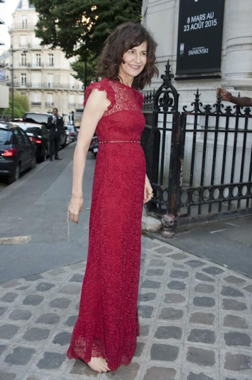 Valérie Lemercier lors de la soirée Vogue à Paris, le 6 juillet 2015