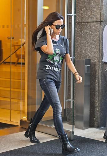 Photos : Fashion Week New York : Victoria Beckham peut compter sur les siens !