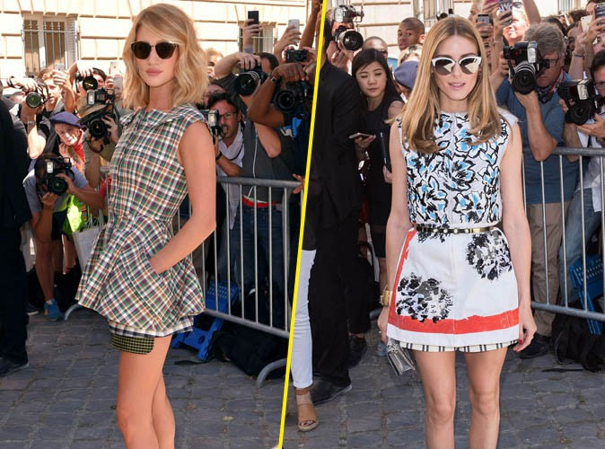 Fashion Week : Rosie Huntington-Whiteley et Olivia Palermo : deux bombes au défilé Dior !