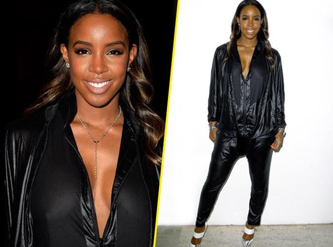 Fashion Week Paris : Kelly Rowland : elle zappe son soutien gorge pour Barabara Bui !