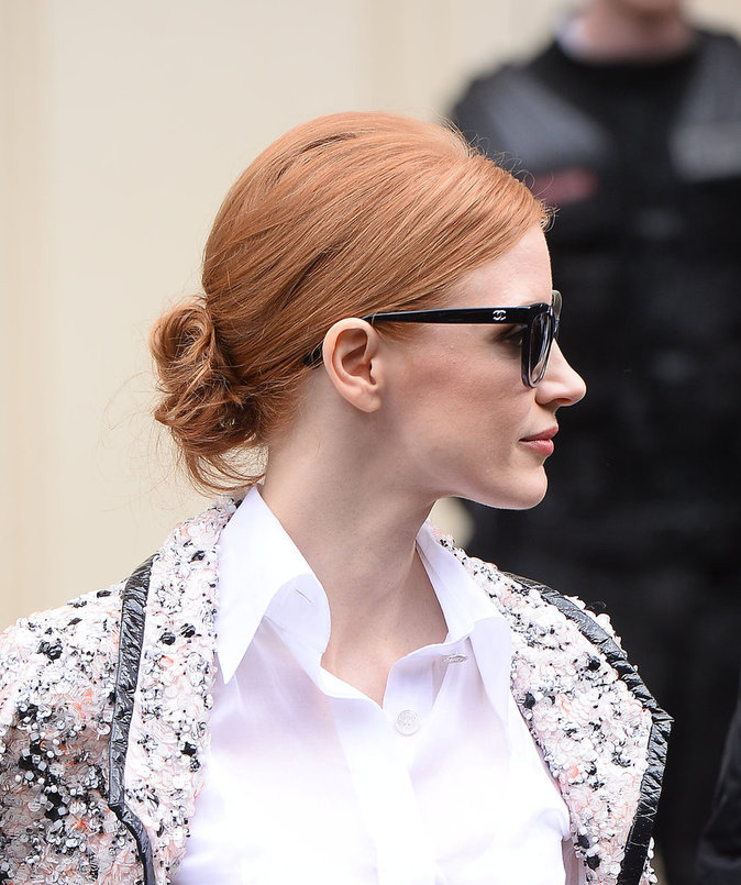 Jessica Chastain au défilé haute couture Chanel