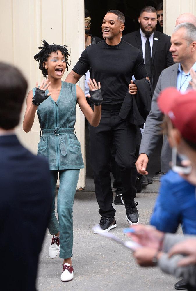Will Smith et sa fille Willow Smith au défilé Chanel