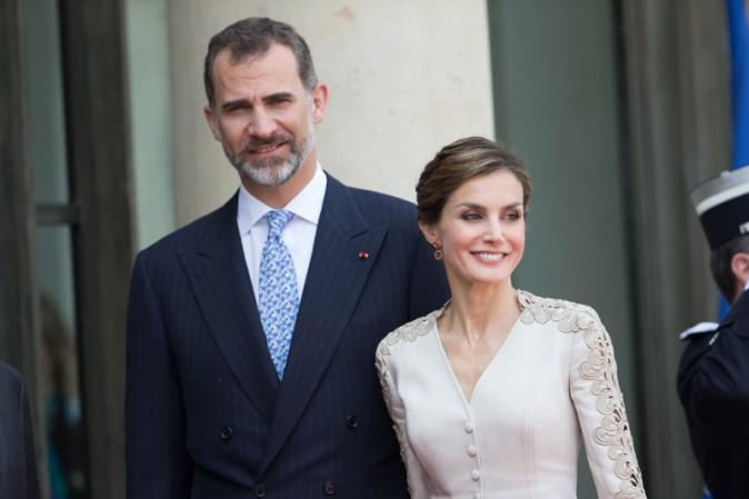 Felipe et Letizia d'Espagne à l'Elysée le 2 juin 2015