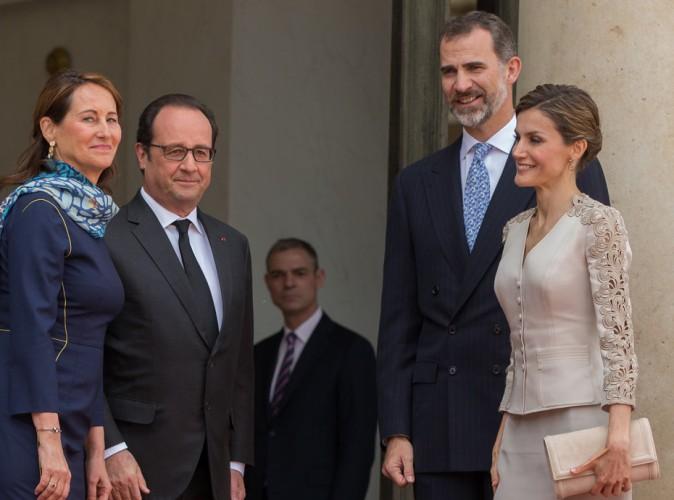 Felipe et Letizia d'Espagne en visite à l'Elysée, Ségolène Royal joue les premières dames !