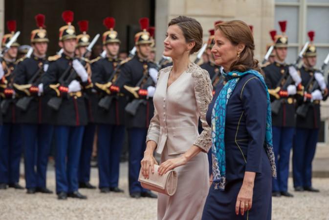 Letizia d'Espagne et Ségolène Royal à l'Elysée le 2 juin 2015