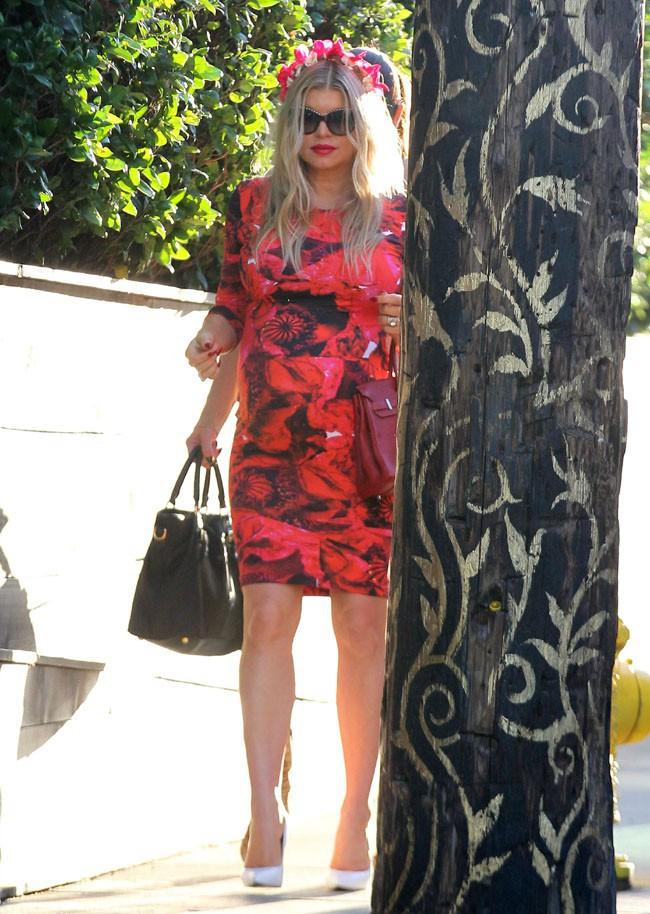 Fergie pour sa troisième baby shower à West Hollywood le 17 août 2013