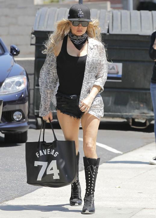 Fergie à Los Angeles le 15 juillet 2015