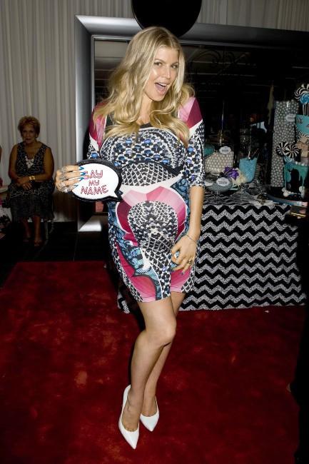 Fergie lors de sa baby shower, le 28 juillet à Brentwood.