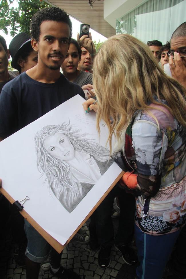 Fergie à Rio de Janeiro, au Brésil, le 3 avril 2013