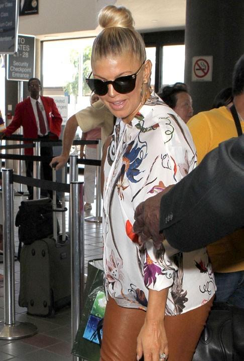 Fergie à l'aéroport de Los Angeles, le 25 août 2011.