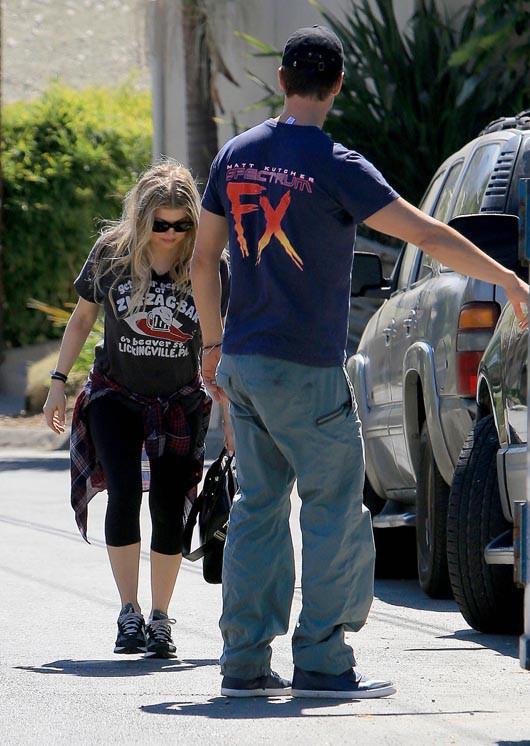 Fergie et Josh Duhamel à Brentwood le 7 octobre 2013