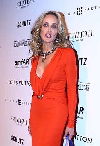 Sharon Stone à Sao Paulo le 5 avril 2013