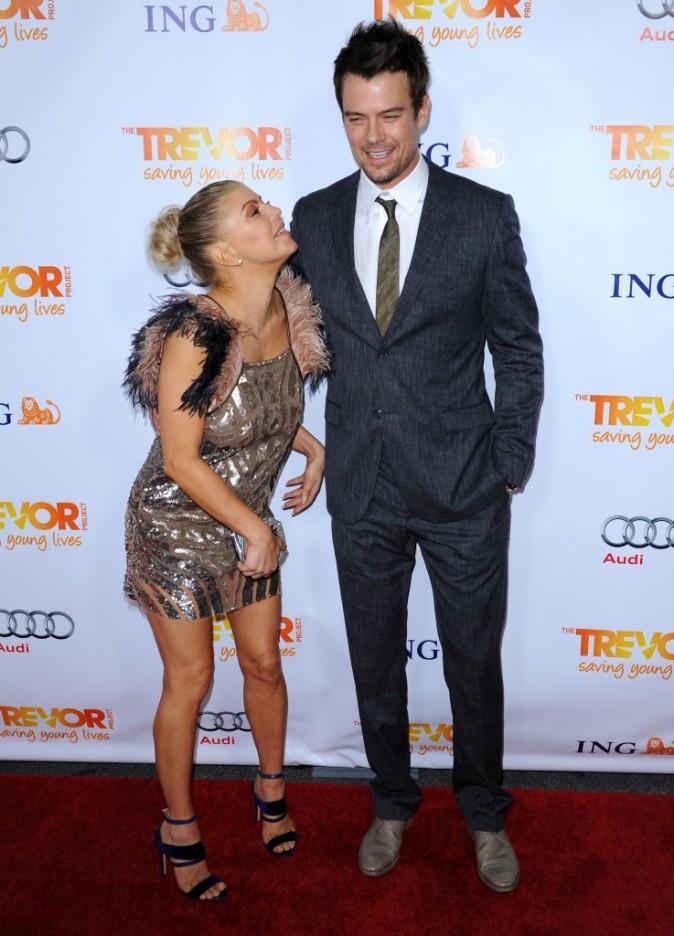 Fergie et son mari Josh Duhamel lors de la soirée Trevor Live à Hollywood, le 4 décembre 2011.