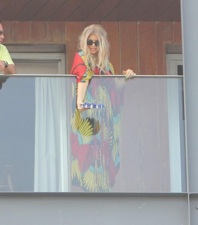 Fergie à son hôtel de Rio de Janeiro, le 4 avril 2013.
