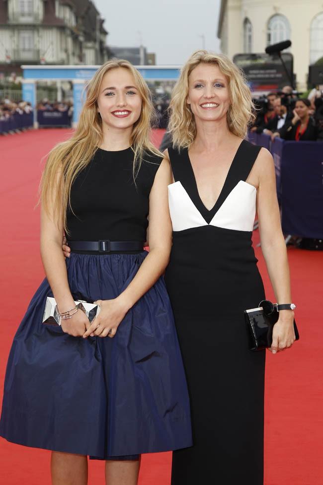 Alexandra Lamy et sa fille Chloé Jouannet au Festival de Deauville le 5 septembre 2014