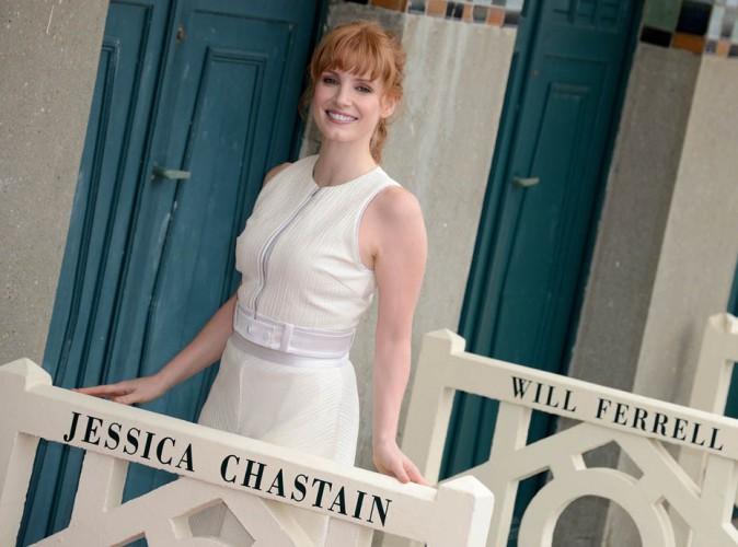 photos festival de deauville 2014 jessica chastain star de la c r monie d 39 ouverture elle. Black Bedroom Furniture Sets. Home Design Ideas