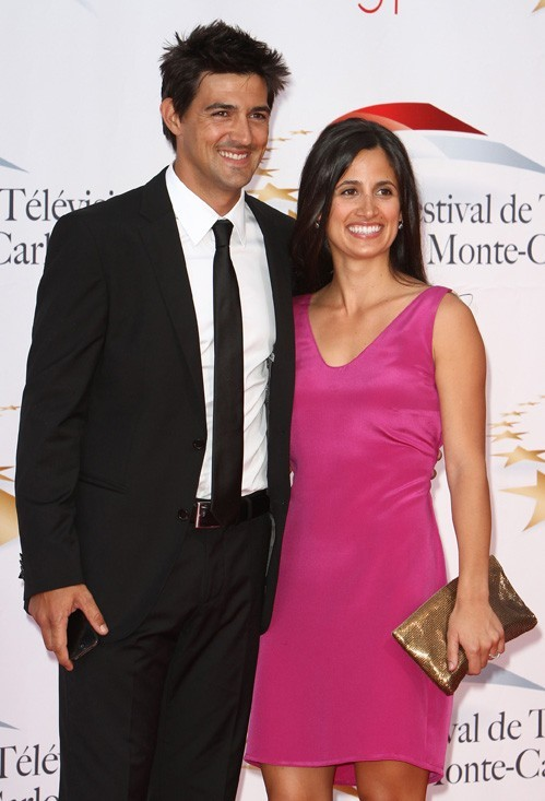 Jean-Pascal avec sa femme Jennifer pour la cérémonie d'ouverture !